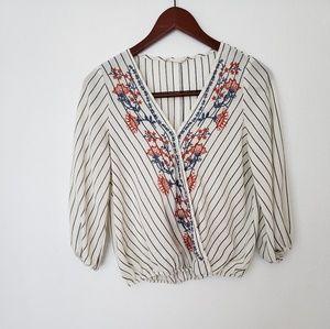 CHLOE & KATIE floral blouse